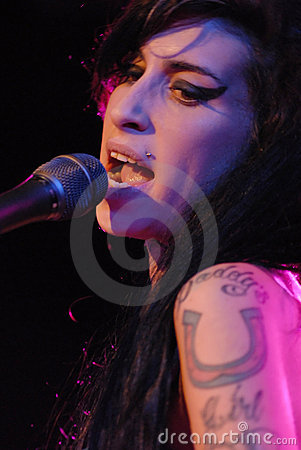 Amy Winehouse performing live Editorial Image