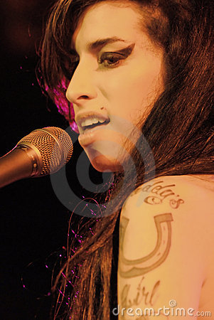 Amy Winehouse performing live Editorial Photo