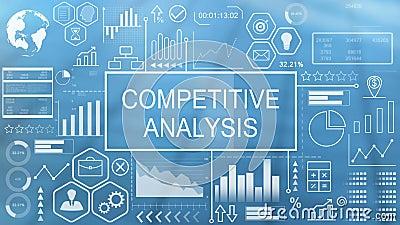 Análisis competitivo, tipografía animada almacen de metraje de vídeo