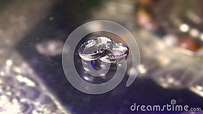 Anéis de casamento video estoque
