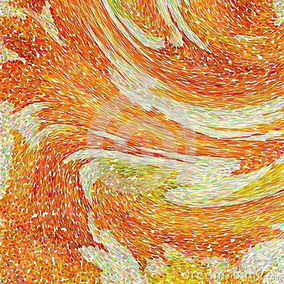 Free An Abstract Wallpaper Pattern Designed In Warm Autumn Colors: Bright Orange, Yellow, Red And Green Colors Stock Photo - 103007690