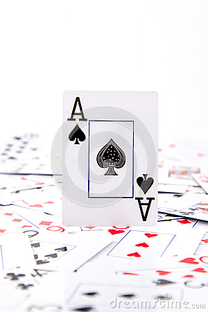Free An Ace Of Spades Stock Image - 46335171