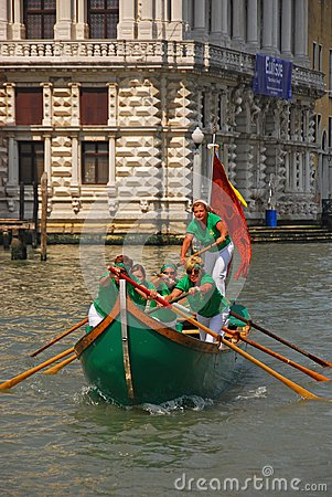 Free An All Female Team Of Boat Rowers During The Vogalonga Regatta Festival In Venice, Italy Royalty Free Stock Photos - 122328378