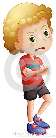 Free An Angry Little Boy Royalty Free Stock Images - 38828059