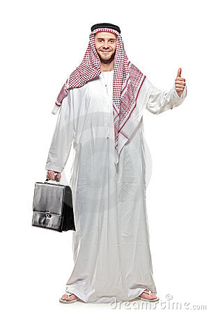 Free An Arab Person With A Thumbs Up Royalty Free Stock Image - 14395036