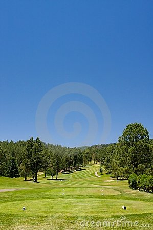 Free An Arizona Golf Course On A Summer Day Stock Image - 5508641