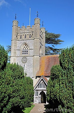Free An English Village Church And Tower Royalty Free Stock Image - 16330056