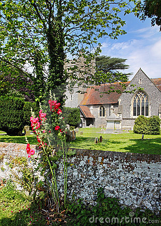 Free An English Village Church And Tower Royalty Free Stock Photography - 20257647