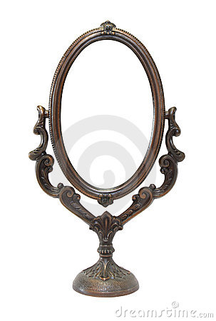 Free An Old Ornate Mirror Royalty Free Stock Photo - 13241395