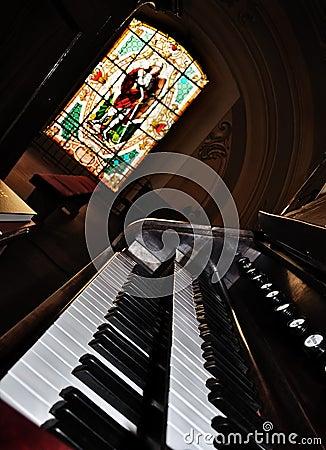 Free An Old Pipe Organ Keyboard Stock Photo - 13761740