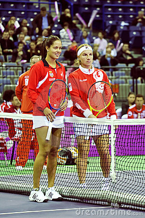 Ana Ivanovic and Svetlana Kuznetsova Editorial Image