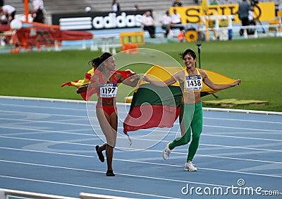Ana Peleteiro and Dovilé Dzindzaletaité Editorial Stock Image
