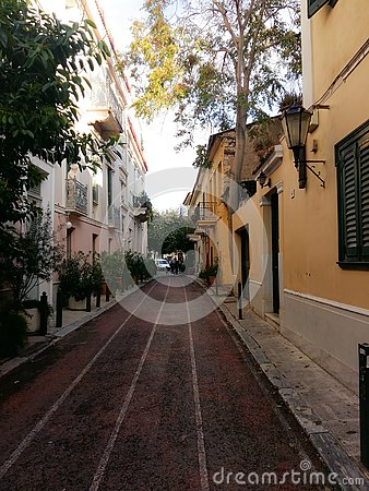 Old Picturesque neighbourhood at the heart of athens greece called anafiotika Editorial Stock Photo