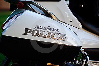 Anaheim Police Editorial Stock Photo
