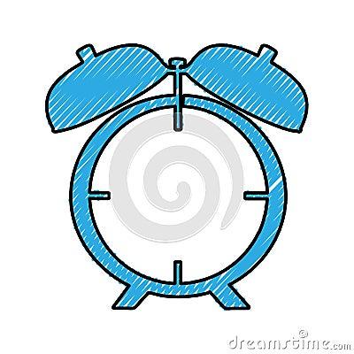 Analog alarm clock icon image Vector Illustration