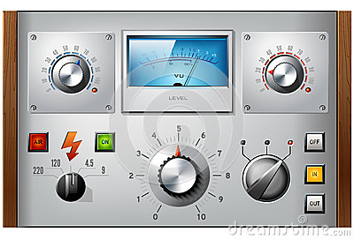 Analog controls interface elements vector set