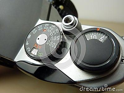 Analog film camera detail