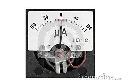 Analog micro ampere meter