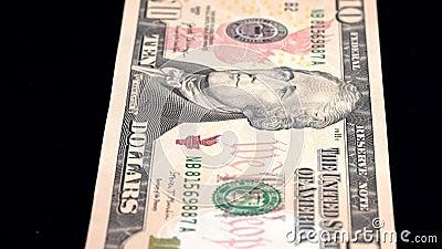Analyse de la devise faible profondeur du champ USD 10 front clips vidéos