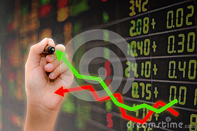 Analysis of stock market Stock Photo