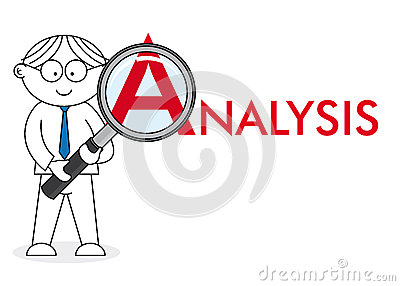Analyst looking closely