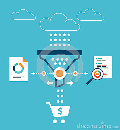 Free Analytics For Sales Funnel Royalty Free Stock Images - 66879729