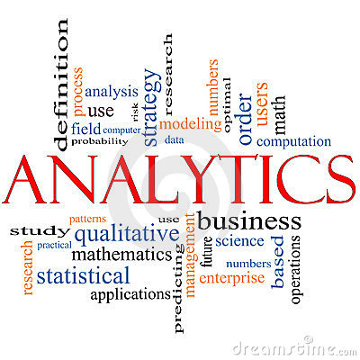 Analytics Word Cloud Concept