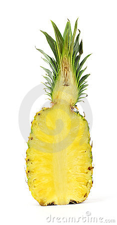 Ananas coup dedans moiti photographie stock image 17206282 - Conservation ananas coupe ...