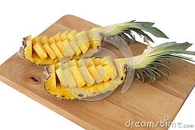 Ananas coup en tranches image libre de droits image 37703676 - Conservation ananas coupe ...