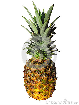 Free Ananas. Isolated On White With Clipping Path Stock Photography - 30645602