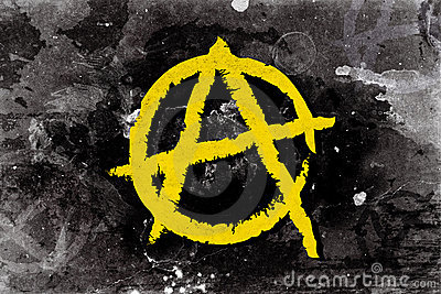 Anarchy symbol on a background