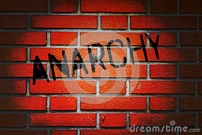 Anarchy Written on Brick Wall