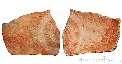 Anasazi clay pottery shard
