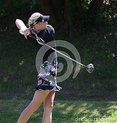 Anastasia Kostina at the Fourqueux Ladies Open 2013 Editorial Stock Photo