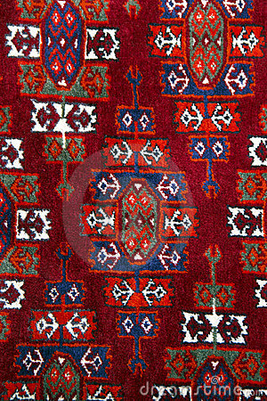 Anatolian handmade carpet closer