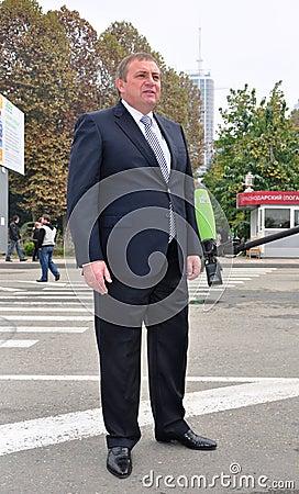 Anatoly Pakhomov, mayor of Sochi, Russia Editorial Photography