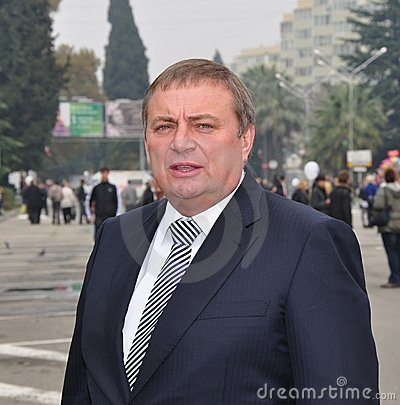 Anatoly Pakhomov, mayor of Sochi, Russia Editorial Stock Image