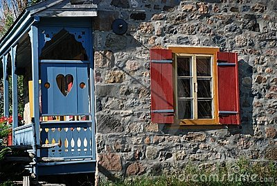 Ancestral rural stone house in Quebec Canada