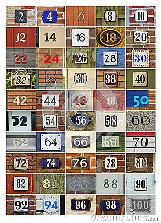 Anche numeri di casa fotografia stock immagine 19418352 for Numeri di casa mediterranea