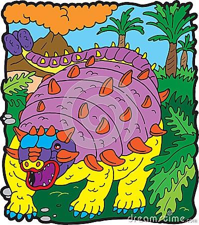 Anchilosauro de dinosaur