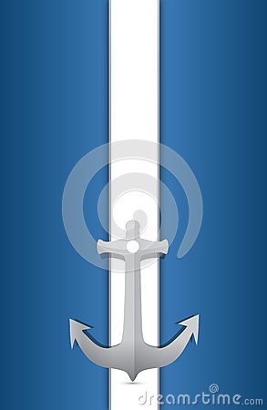 Anchor and blue and white background