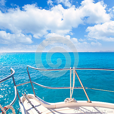 Anchor boat tropical idyllic turquoise beach