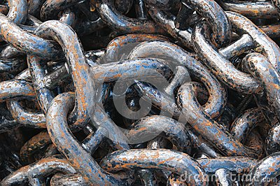 anchor chain, close up