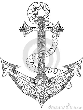 Anchor Coloring Vector For Adults