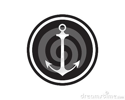 Anchor icon Logo Template vector Vector Illustration