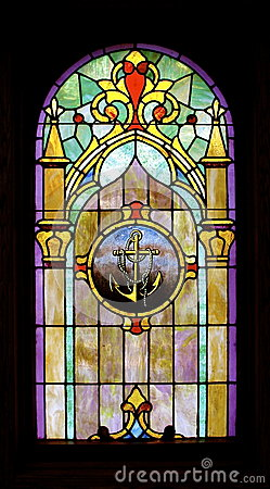 Anchor Image Stained Glass-Full Pane:  Isolated