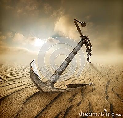 Free Anchor In Desert Stock Photos - 48521063