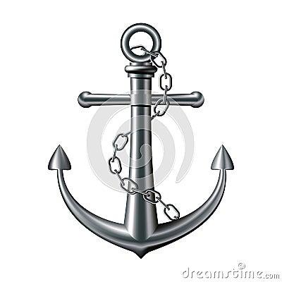 Free Anchor On White Background Royalty Free Stock Photos - 26143858