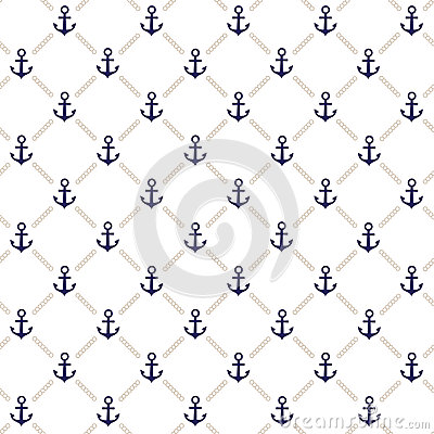 Free Anchor Pattern Stock Photo - 24823420