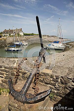 Anchor at Porlock Weir, England Editorial Image